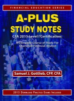 A-Plus Study Notes CFA 2015 Level I Certification